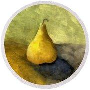 Pear Still Life Round Beach Towel by Michelle Calkins