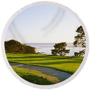 Round Beach Towel featuring the photograph Pebble Beach Golf Course, Pebble Beach by Panoramic Images