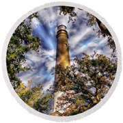 Pensacola Lighthouse Round Beach Towel