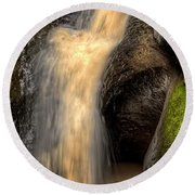 Pewits Nest Middle Waterfall Round Beach Towel
