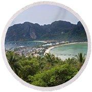 Phi-phi Don Viewpoint Round Beach Towel