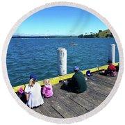 Pilot Bay 1 - Mount Maunganui Tauranga New Zealand Round Beach Towel