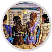Pink Floyd Collection Round Beach Towel