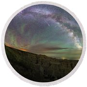 Round Beach Towel featuring the photograph Pinnacles  by Aaron J Groen