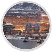 The House Of Steel  Round Beach Towel