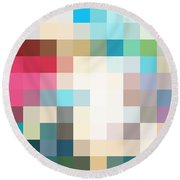 Pixel Art 3 Round Beach Towel
