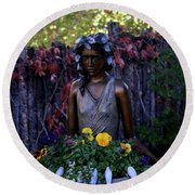 Round Beach Towel featuring the photograph Plenty by Kenneth Campbell