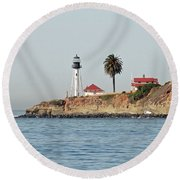 Point Loma Lower Lighthouse Round Beach Towel