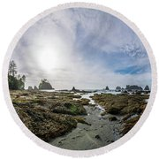 Point Of The Arches 3 Round Beach Towel