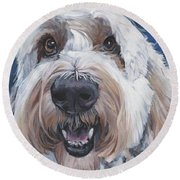 Polish Lowland Sheepdog Round Beach Towel