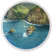 Pololu Point Round Beach Towel