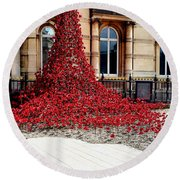 Poppies - City Of Culture 2017, Hull Round Beach Towel