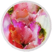 Poppy Garden Round Beach Towel
