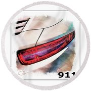 Porsche 911 Round Beach Towel