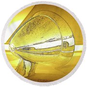 Porsche Mirror Round Beach Towel