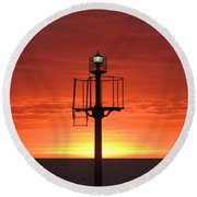 Round Beach Towel featuring the photograph Port Hughes Lookout by Linda Hollis