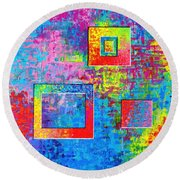Portals Of Color Round Beach Towel by Jeremy Aiyadurai