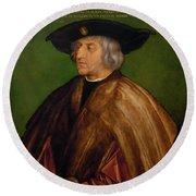 Portrait Of Maximilian I Round Beach Towel