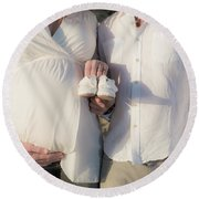 Round Beach Towel featuring the photograph Powell Maternity by T Brian Jones