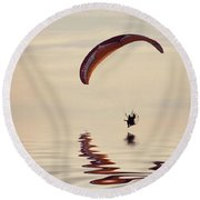 Powered Paraglider Round Beach Towel