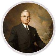 President Harry Truman Round Beach Towel