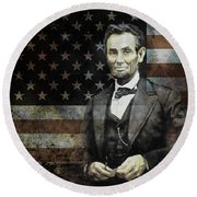 President Lincoln  Round Beach Towel by Gull G