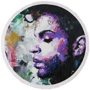 Prince Round Beach Towel by Richard Day