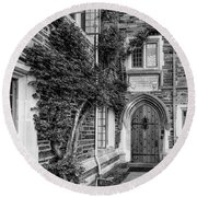 Round Beach Towel featuring the photograph Princeton University Foulke Hall II by Susan Candelario