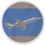 Private Jet Round Beach Towel