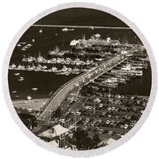 Round Beach Towel featuring the photograph Provincetown  by Raymond Earley