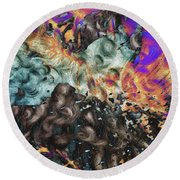 Psychedelic Fur Round Beach Towel