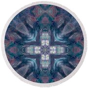 Queen Fairy Cross Round Beach Towel by Maria Watt