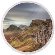 Quiraing - Isle Of Skye Round Beach Towel