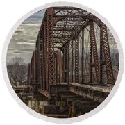 Rail Bridge Round Beach Towel