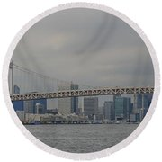 Rainbow Bridge Round Beach Towel by Megan Martens