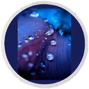 Raindrops Round Beach Towel by Rachel Mirror