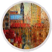 Round Beach Towel featuring the photograph Rainy Day by Vladimir Kholostykh