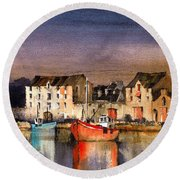 Ramelton Dusk, Donegal. Round Beach Towel