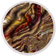 Round Beach Towel featuring the digital art Rare Silk by Richard Ortolano