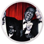 Rat Pack Round Beach Towel