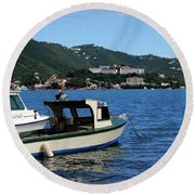 Round Beach Towel featuring the photograph Ready To Go by Gary Wonning