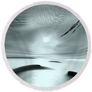 Sparkling In The Sand 2 Round Beach Towel