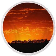 Round Beach Towel featuring the photograph Red Arkansas by J R Seymour