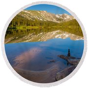Round Beach Towel featuring the photograph Reflections by Steven Reed
