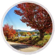 Remick Farm Round Beach Towel