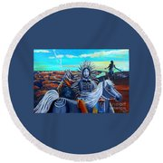 Respect Mother Earth Round Beach Towel