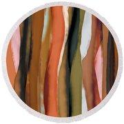 Ribbons Round Beach Towel by Bonnie Bruno