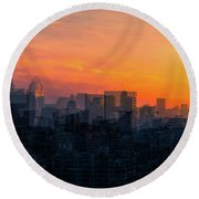 River City Round Beach Towel by Cathy Donohoue