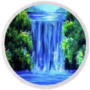 River Of Life Round Beach Towel