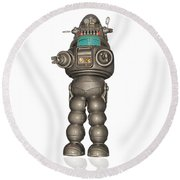 Robby The Robot Round Beach Towel